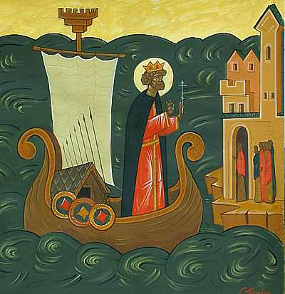 St. Olav was king of Norway in XI century. He converted Norwegians to ...